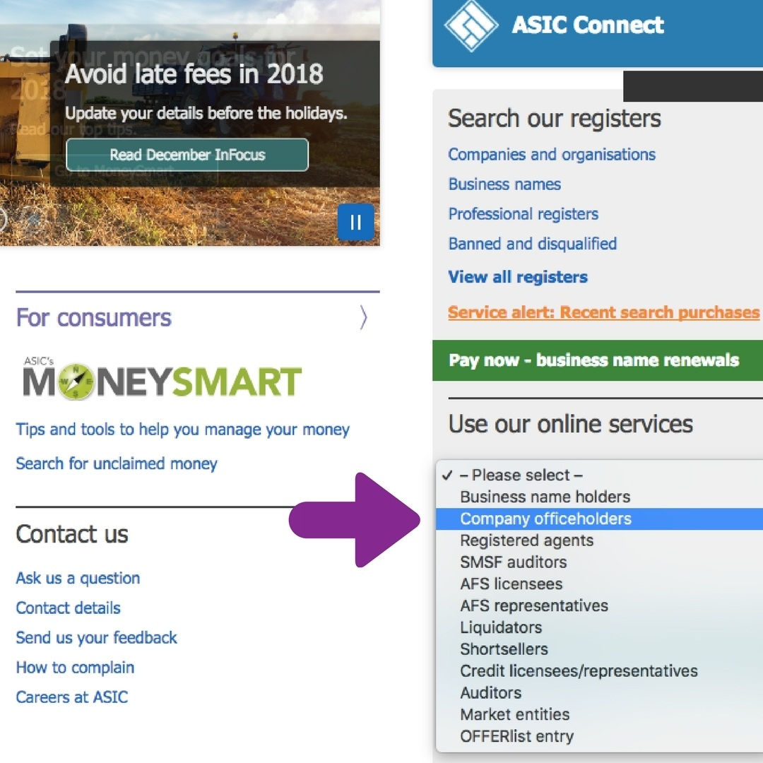 Accessing ASIC's online portal